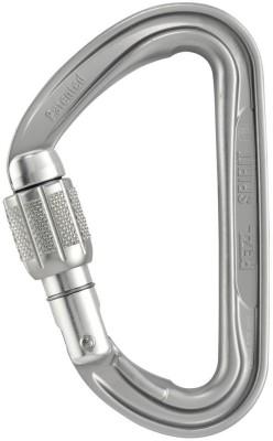Petzl Mousqueton Spirit Screw-Lock Assisted Braking Belaying Device(Silver)
