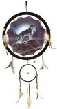 Generic Wolf Dream Catcher 13 with Real ...