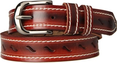 Goguava Men Casual Brown Genuine Leather Belt