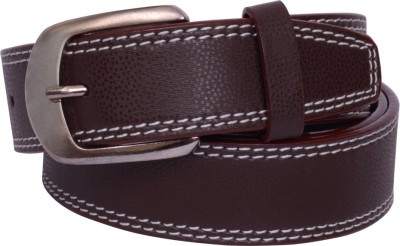 The Brandstand Men Casual Brown Texas Leatherite Belt