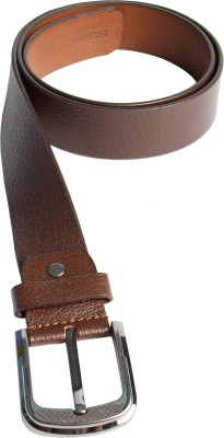 SKSS Club Men Casual Tan Genuine Leather Belt