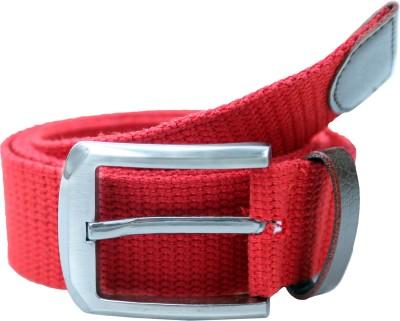 Contra Men Red Canvas Belt