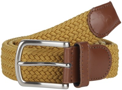 American Swan Men Casual Yellow Synthetic Belt