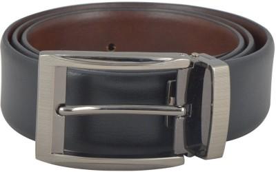 HEIFARD Men Formal Black Genuine Leather Reversible Belt
