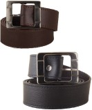 FastFox Men Casual, Formal, Party, Evening Black, Brown Synthetic Belt