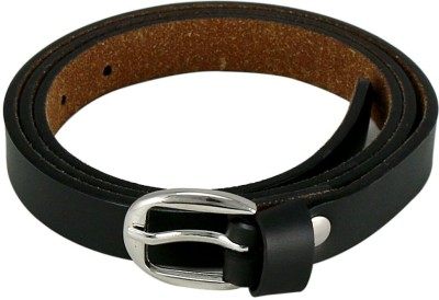 Almond Women, Girls Black Artificial Leather Belt