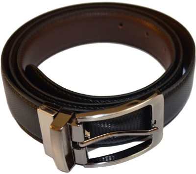 Kesari Men Casual Black Artificial Leather Belt