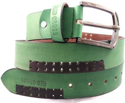 REDCROSS Men Green Genuine Leather Belt