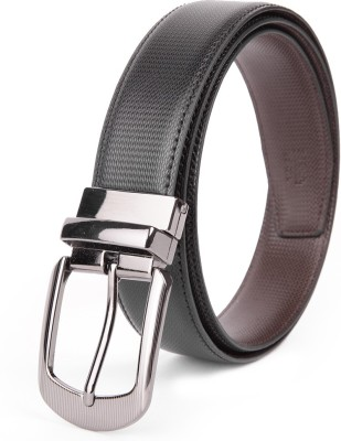 Chisel Men Formal Black Genuine Leather Reversible Belt