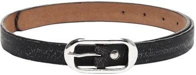 Fume Women Casual Black Genuine Leather Belt