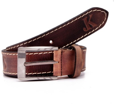 Junckers Men, Boys Casual, Party, Evening, Formal Brown Genuine Leather Belt