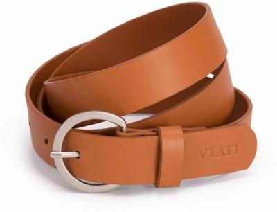 Viari Women Casual Tan Genuine Leather Belt