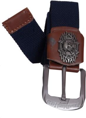 Oril Men Casual Black Canvas Belt