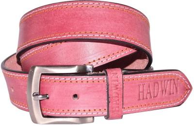 Hadwin Men Casual Maroon Genuine Leather Belt