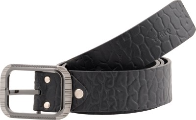 tZaro Men Formal Black Genuine Leather Belt