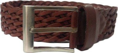 Bcoz Men Casual Brown Genuine Leather Belt