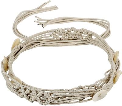 Jainsons Women Casual White Fabric Belt