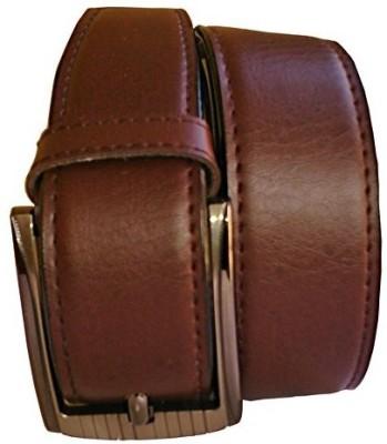 Wholesomdeal Men Formal Brown Synthetic Belt