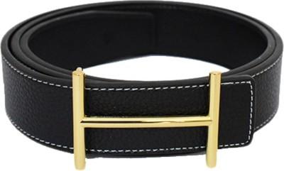 Zaira diamond Men Black Genuine Leather Belt