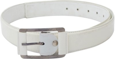 SkyWays Men Casual White Artificial Leather Belt