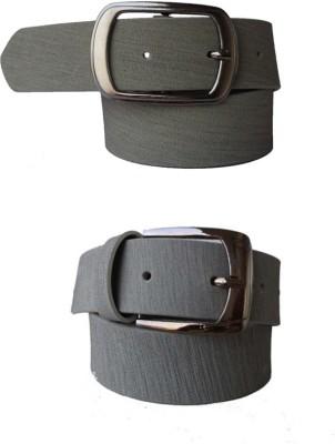 Klaska Men Casual Grey Artificial Leather Belt