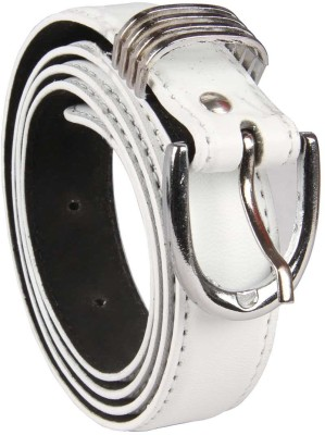 Harp Boys, Men, Girls, Women Casual, Party, Formal, Evening White Artificial Leather Belt