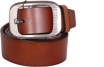 SHOPPY ADDA Men Brown Genuine Leather Belt