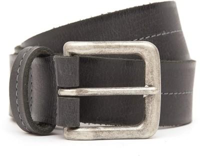 Kethini Men Casual Black Genuine Leather Belt