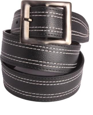 Aleron Men Black Artificial Leather Belt