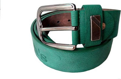 Justclickfashion Men, Boys Casual, Party, Evening Green Genuine Leather Belt