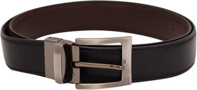 Shiven Men Formal Brown, Black Genuine Leather Reversible Belt