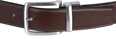 Kritika Men Brown Genuine Leather Reversible Belt