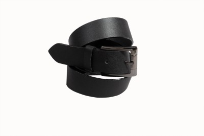 Panache4U Men Black Genuine Leather Belt