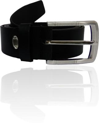 GINWALA Boys, Men Casual Black Genuine Leather Belt