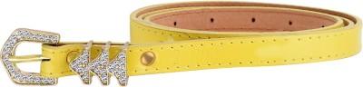 palito Girls, Women Yellow Genuine Leather Belt