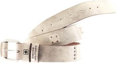 Swiss Military Men, Boys White Genuine Leather Belt