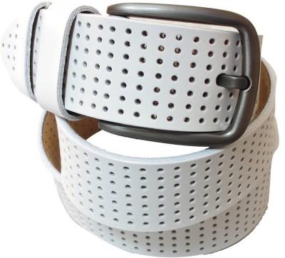 Lion Heart Men Casual White Genuine Leather Belt