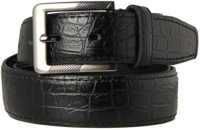 Goguava Men Formal Black Genuine Leather Belt