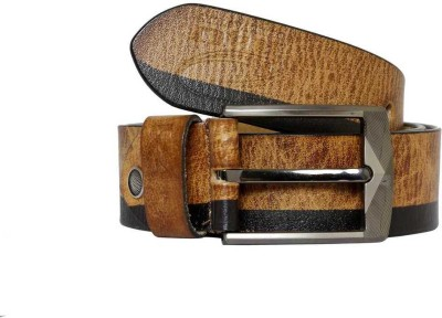 R4U Denim Factory Men Casual Tan Genuine Leather Belt