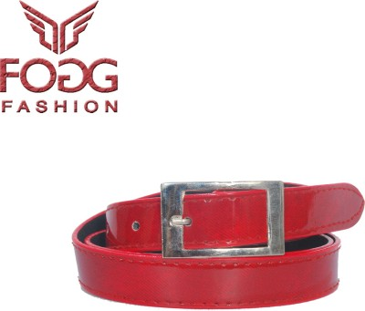 Fogg Fashion Store Girls, Women Casual, Formal, Evening Red Artificial Leather Belt