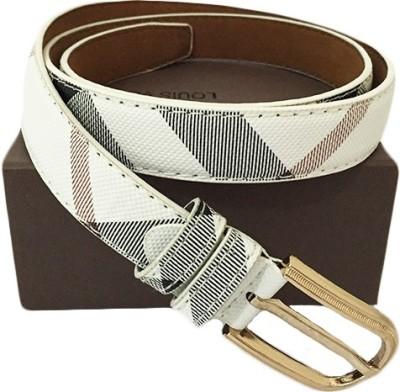 Zaira diamond Women White, Brown Genuine Leather Belt