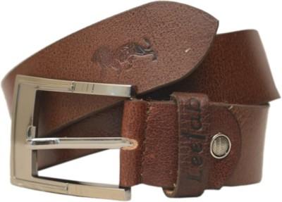 Leefab Men Casual Brown Genuine Leather Belt