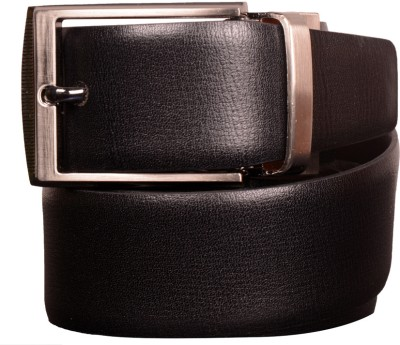Cops Men Formal Black, Brown Genuine Leather Reversible Belt