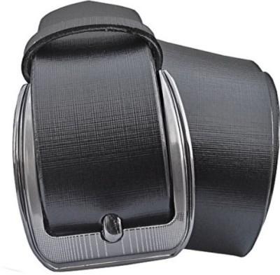 Ruchiworld Boys, Men Formal Black Artificial Leather Belt