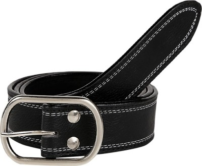 Allura Men Casual Black Artificial Leather Reversible Belt