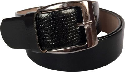 FashionCircuit Men Party, Formal, Evening Black Genuine Leather Belt