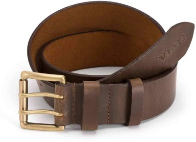 Viari Men Casual Brown Genuine Leather Belt