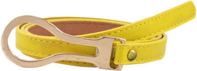 Antiformal Women Party, Casual Yellow Artificial Leather Belt