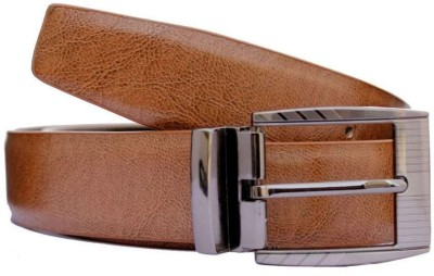 KRG ENTERPRISES Men Formal Maroon Genuine Leather Belt