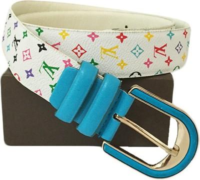 Zaira diamond Women White Genuine Leather Belt